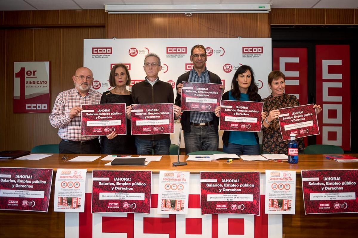 CCOO y UGT activan en todo el país la campaña ¡Ahora salarios, empleo digno y derechos!